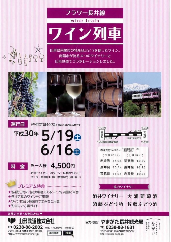 フラワー長井線『ワイン列車』