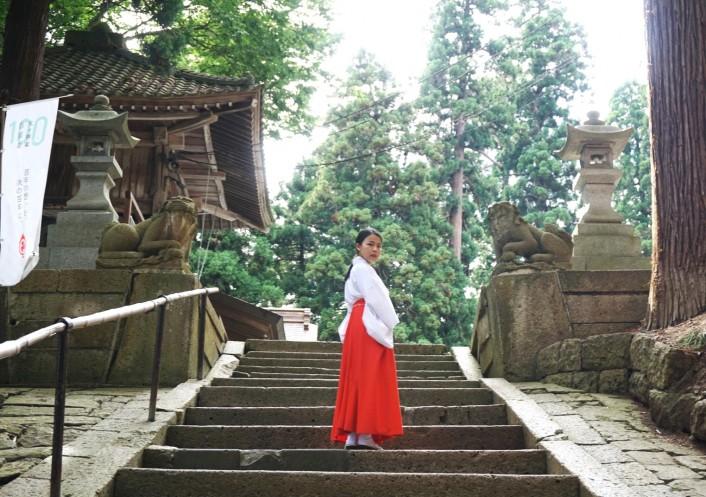 縁結びの神 熊野大社で巫女体験(毎月1日・きっちりコース)